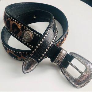 Tony Lama Western Cheetah Cowhide Belt